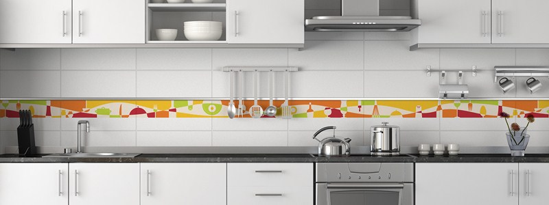 Sticker frise ustensiles de cuisine stickers cuisine - Frise murale castorama ...