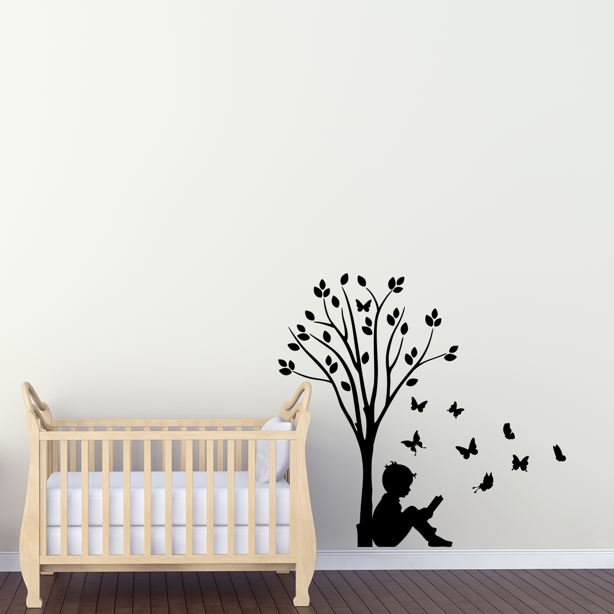 stickers muraux fleurs sticker gar on d 39 arbres et des. Black Bedroom Furniture Sets. Home Design Ideas