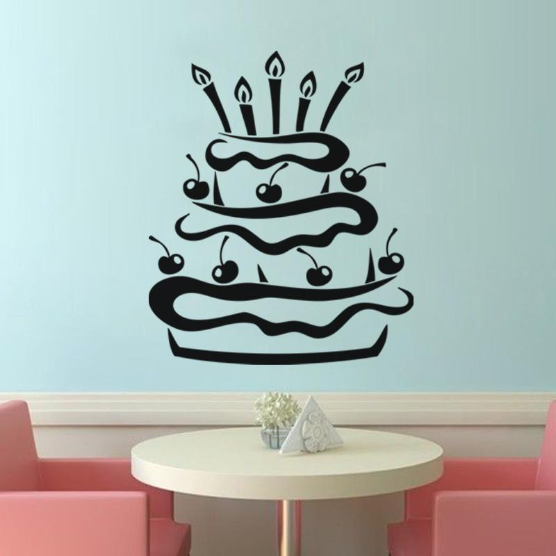 G teau d 39 anniversaire stickers muraux pour la cuisine - Stickers pour la cuisine ...