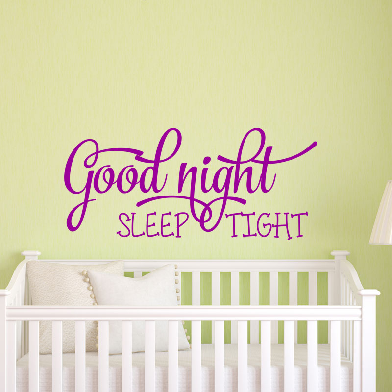 sticker good night sleep tight stickers citations anglais ambiance sticker. Black Bedroom Furniture Sets. Home Design Ideas