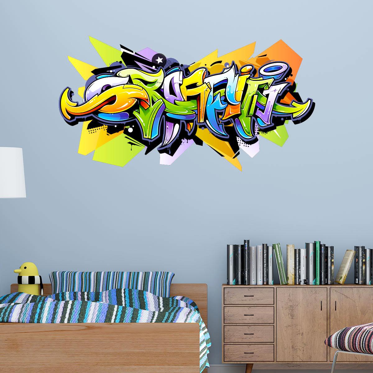Stickers Prenom Graffiti Stickers Ballon Foot Personnalis Avec