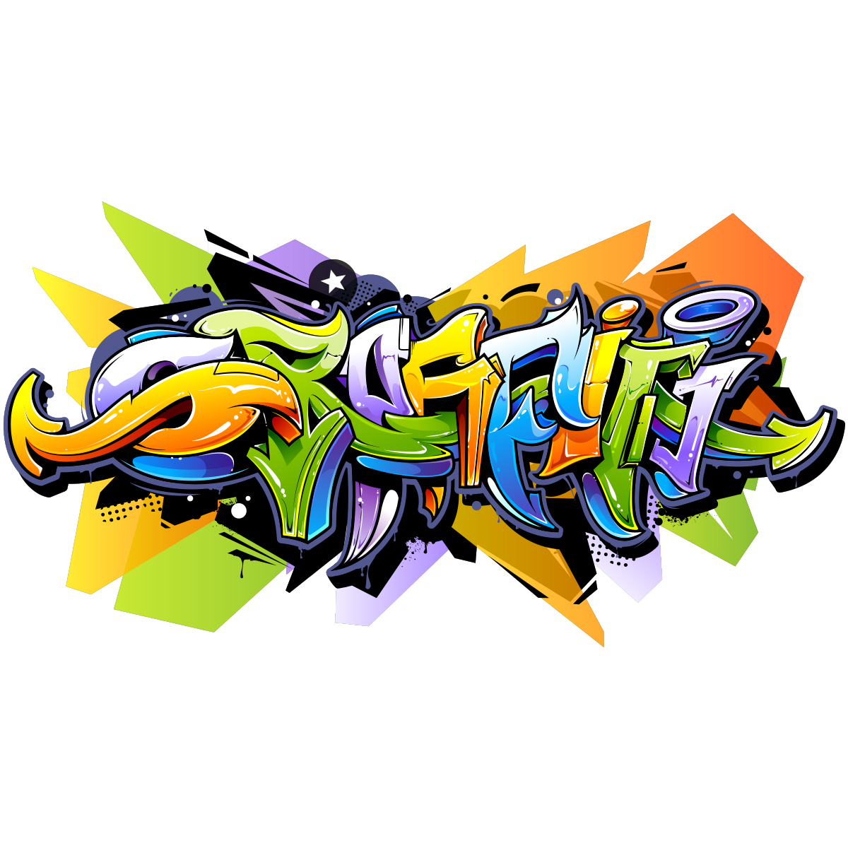 Graffiti Stickers For Walls Sticker Graffiti Multi Couleurs Stickers Art Et Design