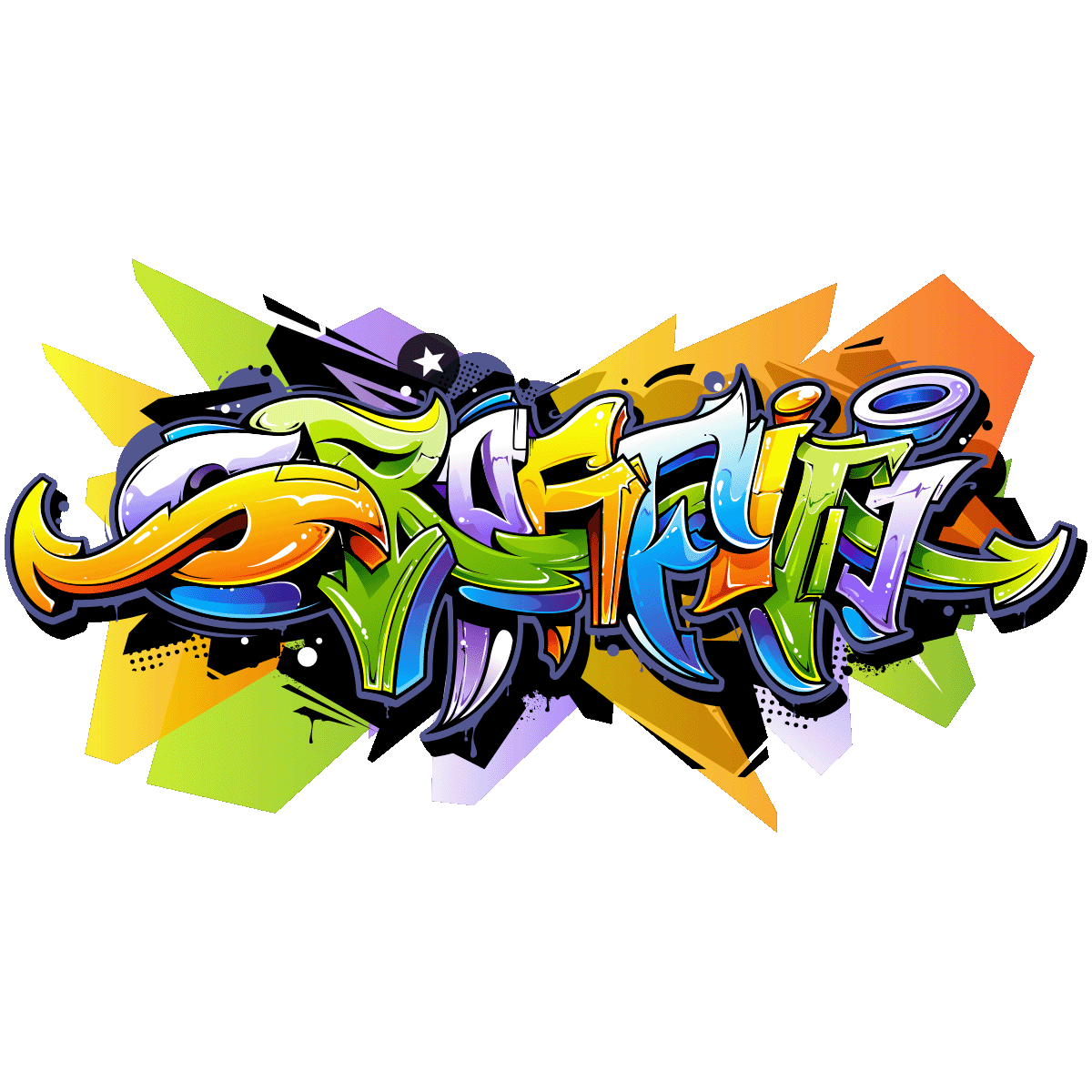 Sticker Graffiti Multi Couleurs Stickers Art Et Design Graffitis