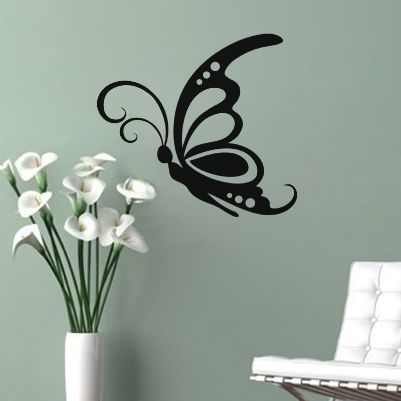 stickers muraux animaux sticker grand papillon ambiance. Black Bedroom Furniture Sets. Home Design Ideas