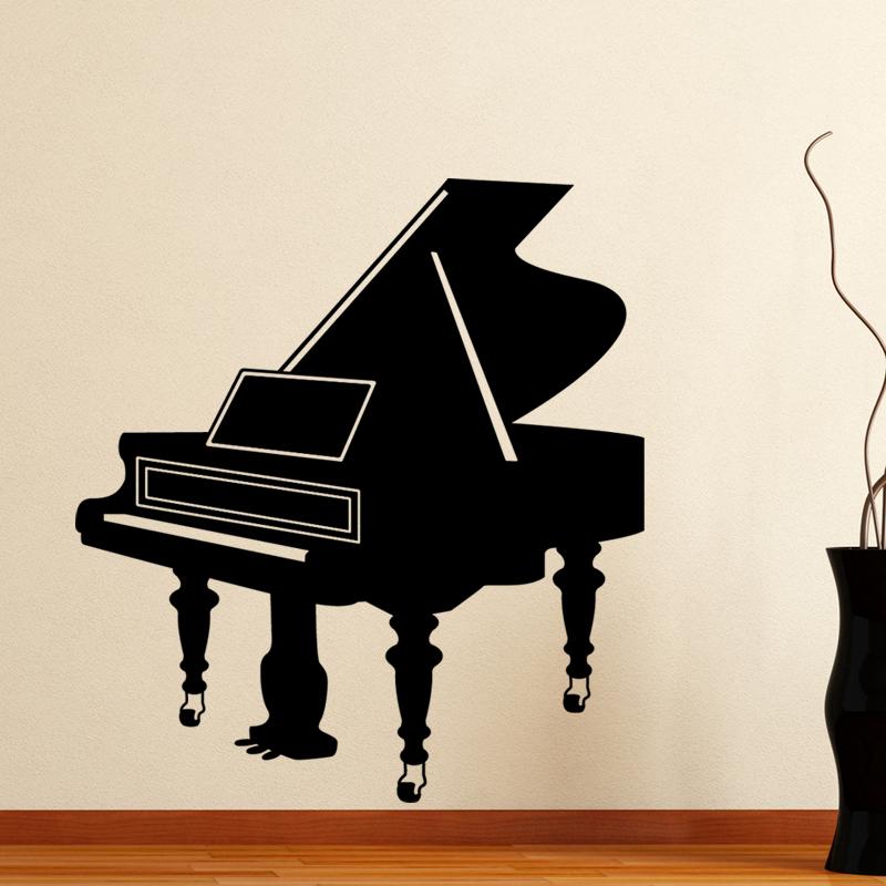 stickers muraux musique sticker grand piano ambiance. Black Bedroom Furniture Sets. Home Design Ideas