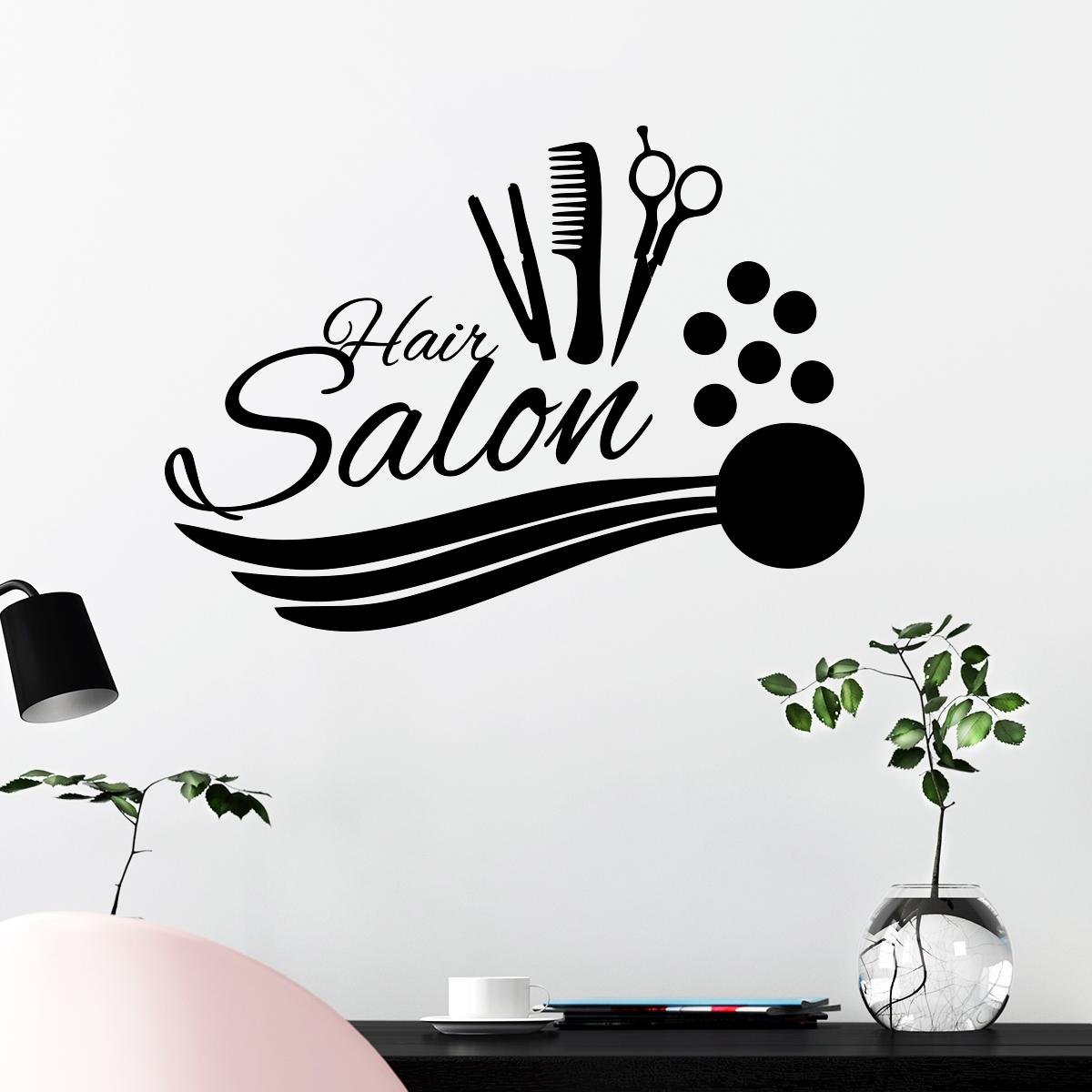 Sticker hair salon accessoires de coiffure stickers for Stickers pour salon