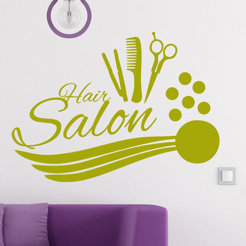 Sticker hair salon accessoires de coiffure stickers - Stickers muraux pour salon ...