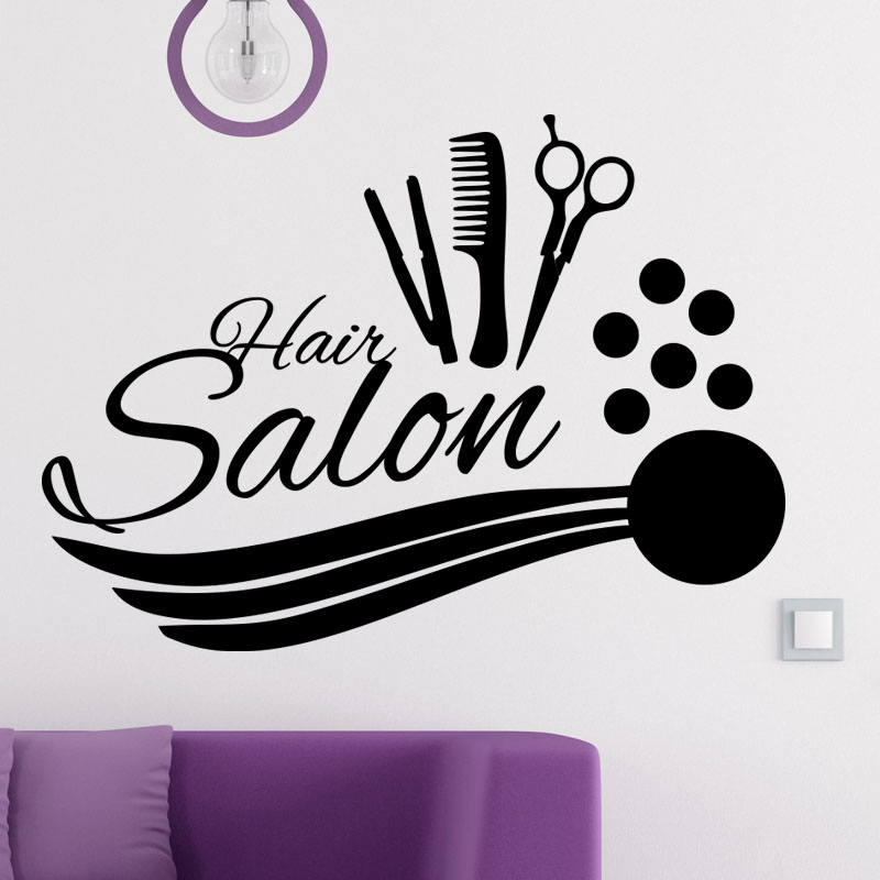 Sticker hair salon accessoires de coiffure stickers for Stickers salon design