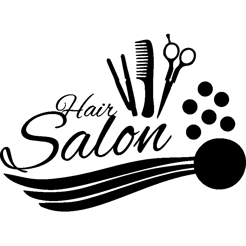 sticker hair salon accessoires de coiffure stickers professionnels stickers vitrine magasin. Black Bedroom Furniture Sets. Home Design Ideas