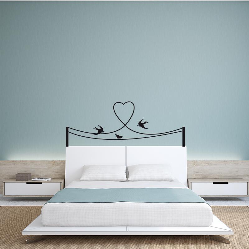 stickers muraux pour chambre sticker mural hirondelles sur cables ambiance. Black Bedroom Furniture Sets. Home Design Ideas