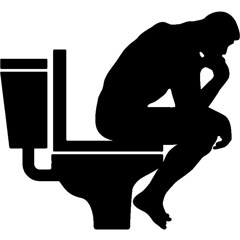 sticker homme assis dans la toilette stickers salle de bain et wc toilettes ambiance sticker. Black Bedroom Furniture Sets. Home Design Ideas