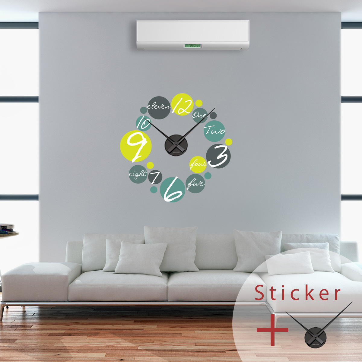 stickers horloges chiffres et lettres ambiance. Black Bedroom Furniture Sets. Home Design Ideas
