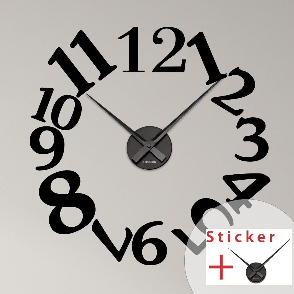 Sticker horloge chiffres originaux stickers horloges design ambiance sticker - Stickers cuisine originaux ...