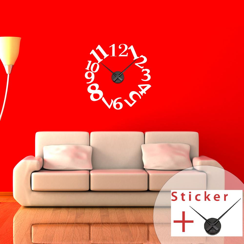Sticker horloge chiffres originaux stickers horloges - Horloge murale design italien ...