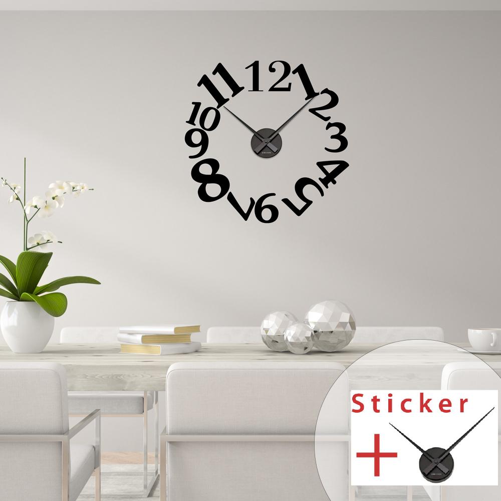 sticker horloge chiffres originaux stickers horloges design ambiance sticker. Black Bedroom Furniture Sets. Home Design Ideas