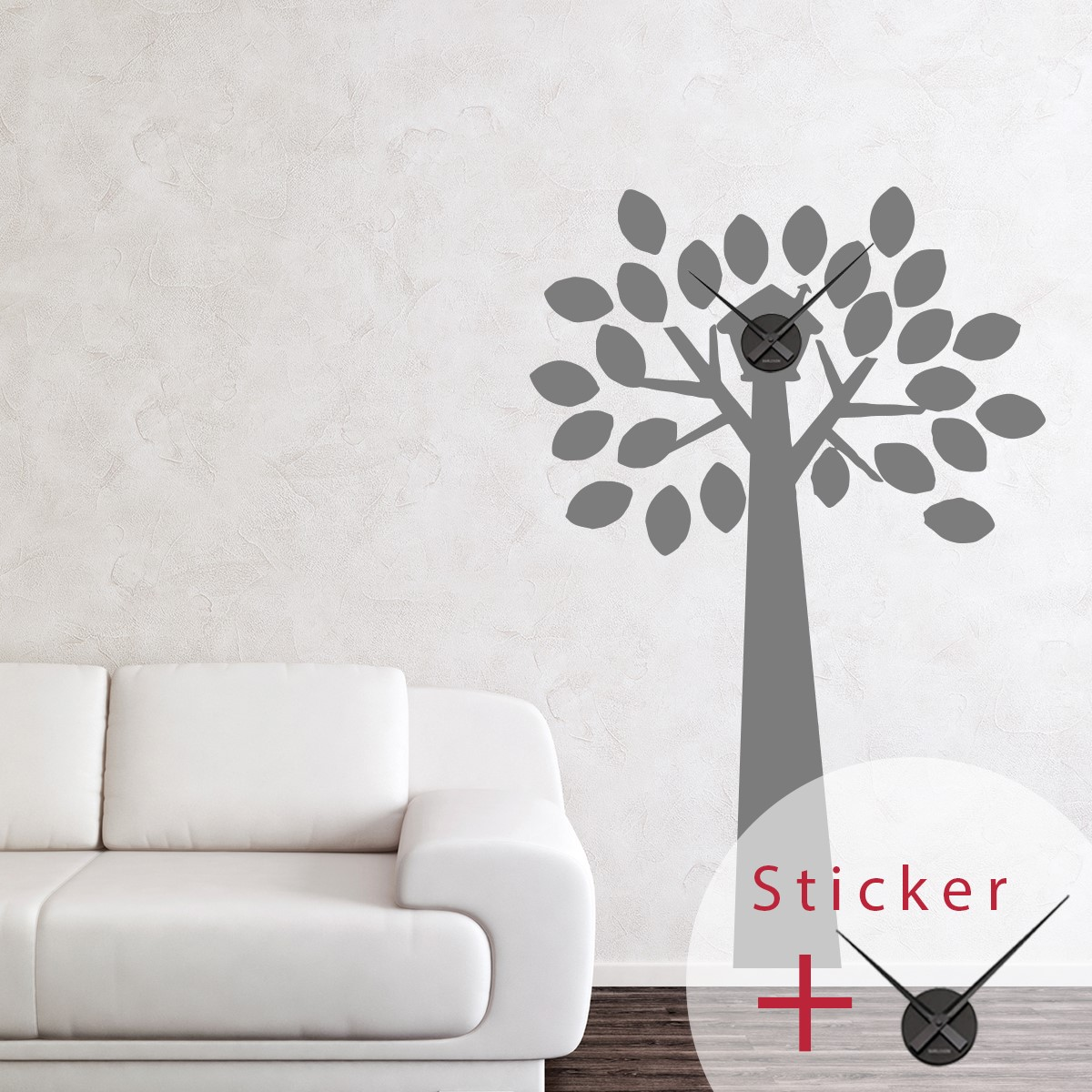 sticker mural nichoir stickers d co horloges ambiance. Black Bedroom Furniture Sets. Home Design Ideas