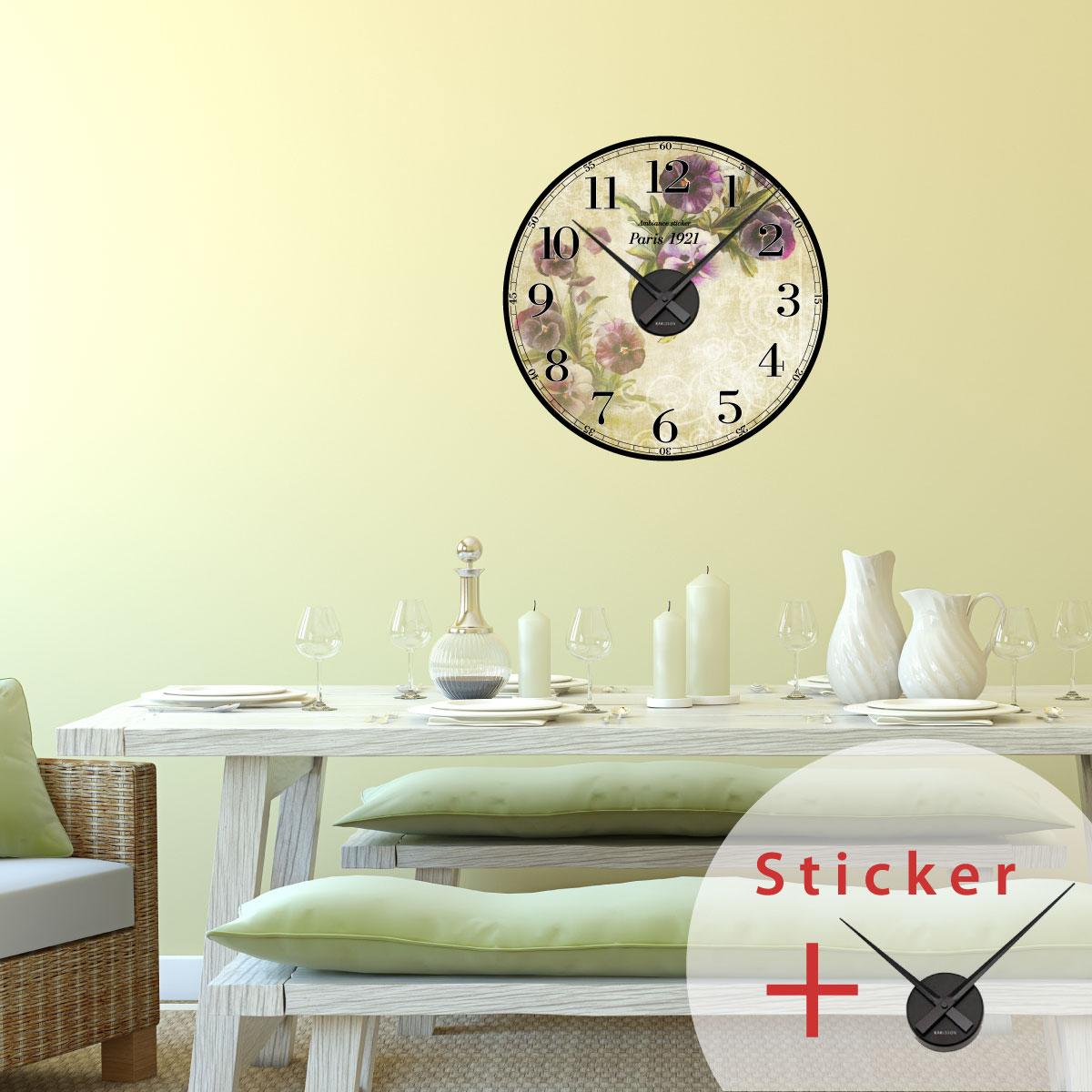 Sticker horloge paris 1921 vintage villes et voyages paris ambiance sticker - Stickers muraux paris ...