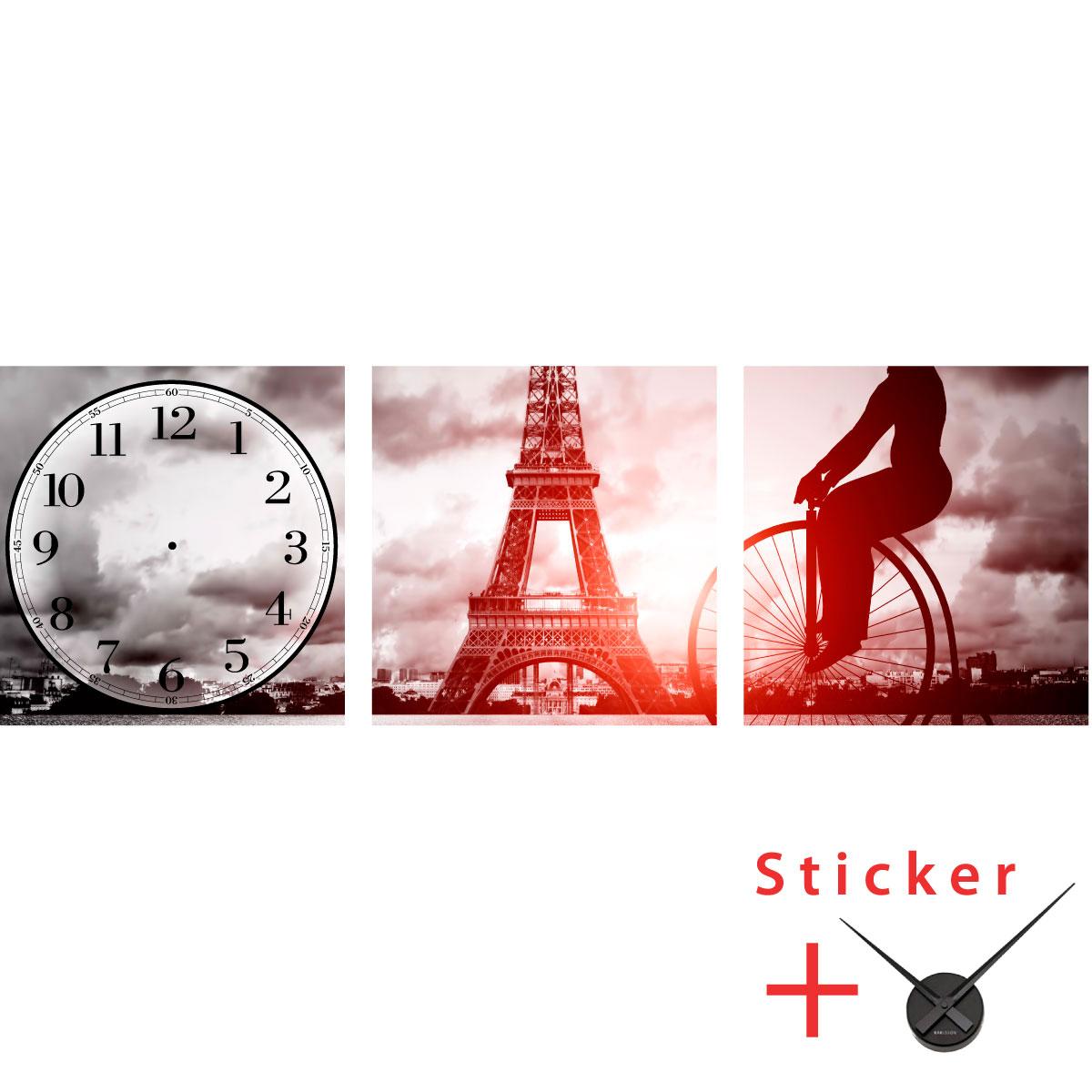 Sticker horloge paris villes et voyages paris ambiance sticker - Stickers muraux paris ...