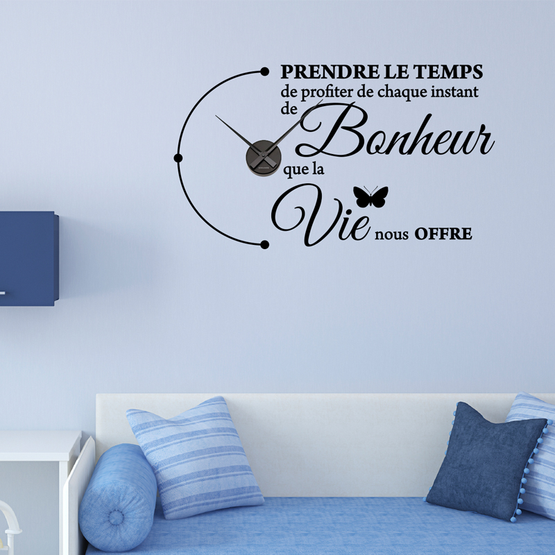Sticker horloge Prendre le temps РStickers Citations Fran̤ais ...
