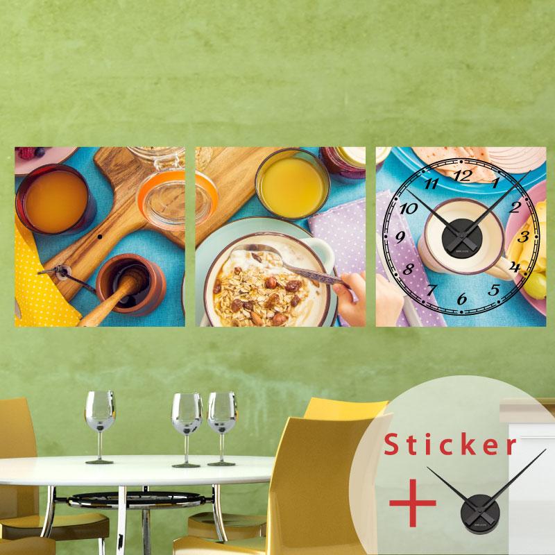 Sticker horloge pr paration d 39 une recette de cuisine for Stickers de cuisine