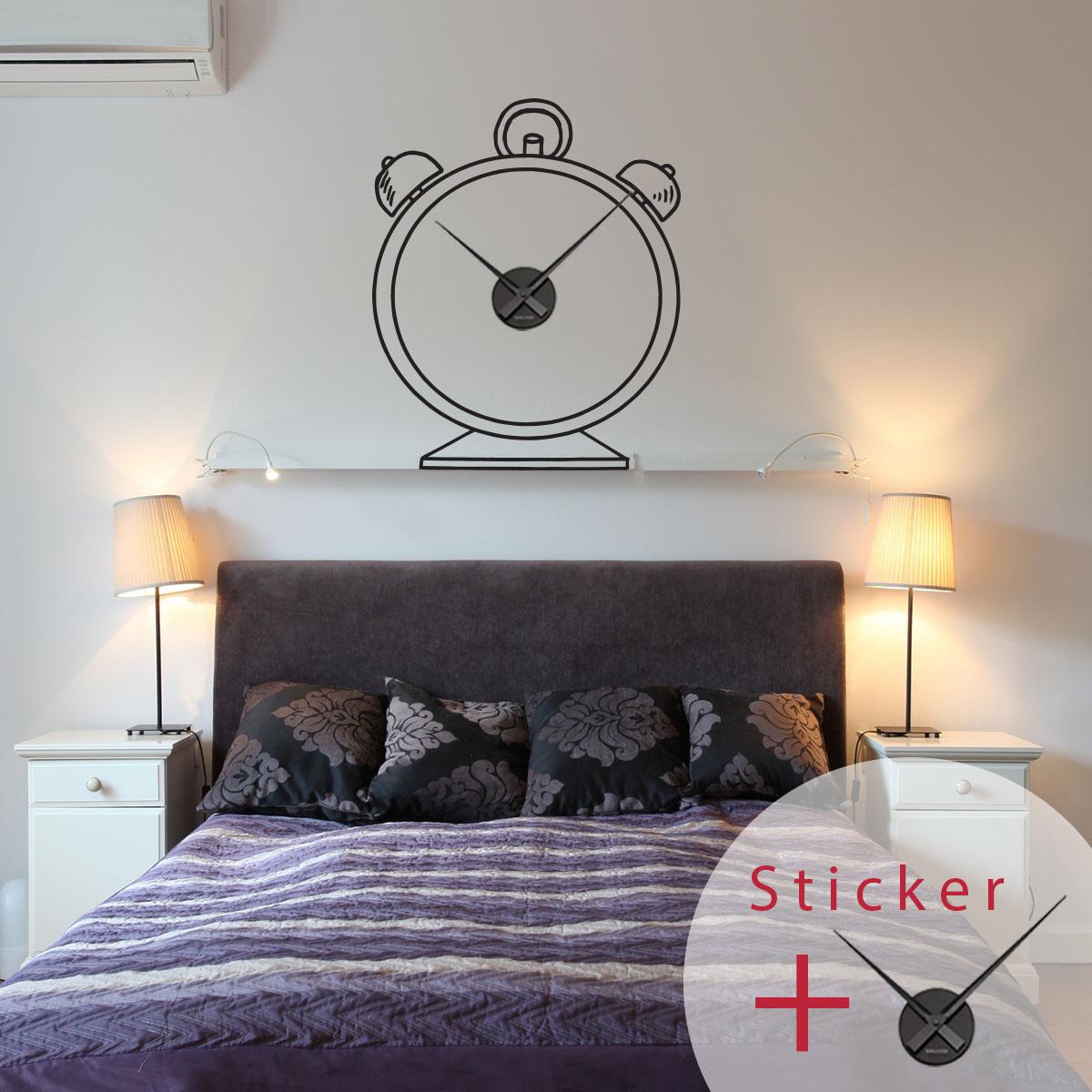 stickers muraux horloge geante good sticker horloge rveil. Black Bedroom Furniture Sets. Home Design Ideas