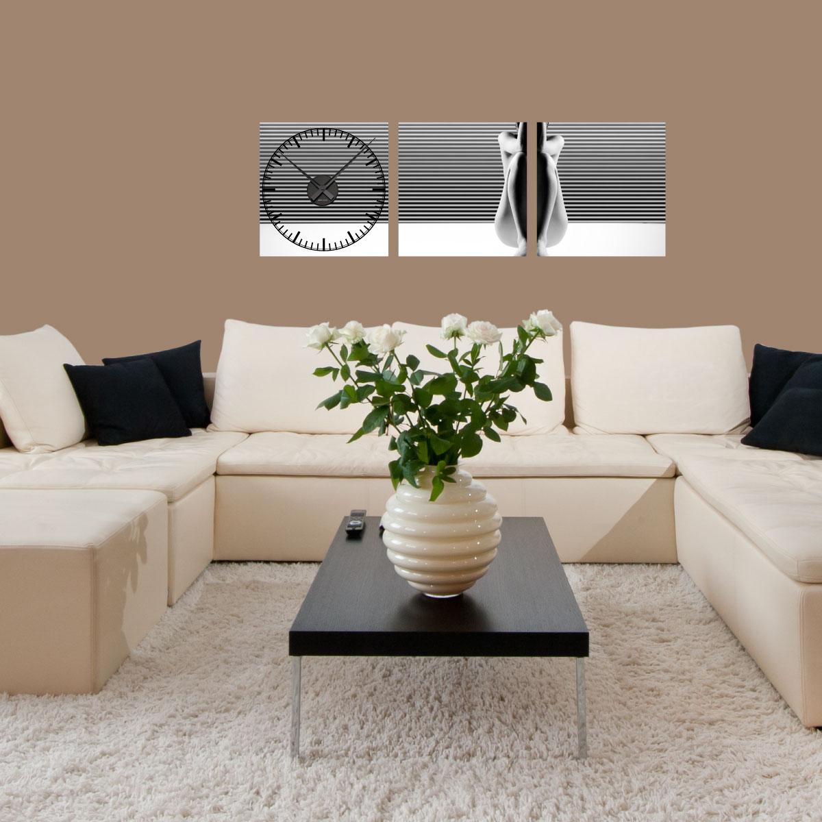 Sticker horloge sensual design art et design artistiques - Horloge murale design italien ...