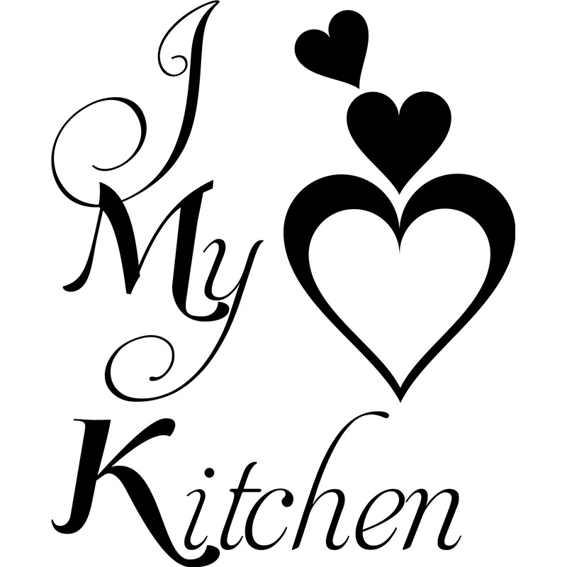 sticker i love my kitchen stickers citations anglais ambiance sticker. Black Bedroom Furniture Sets. Home Design Ideas