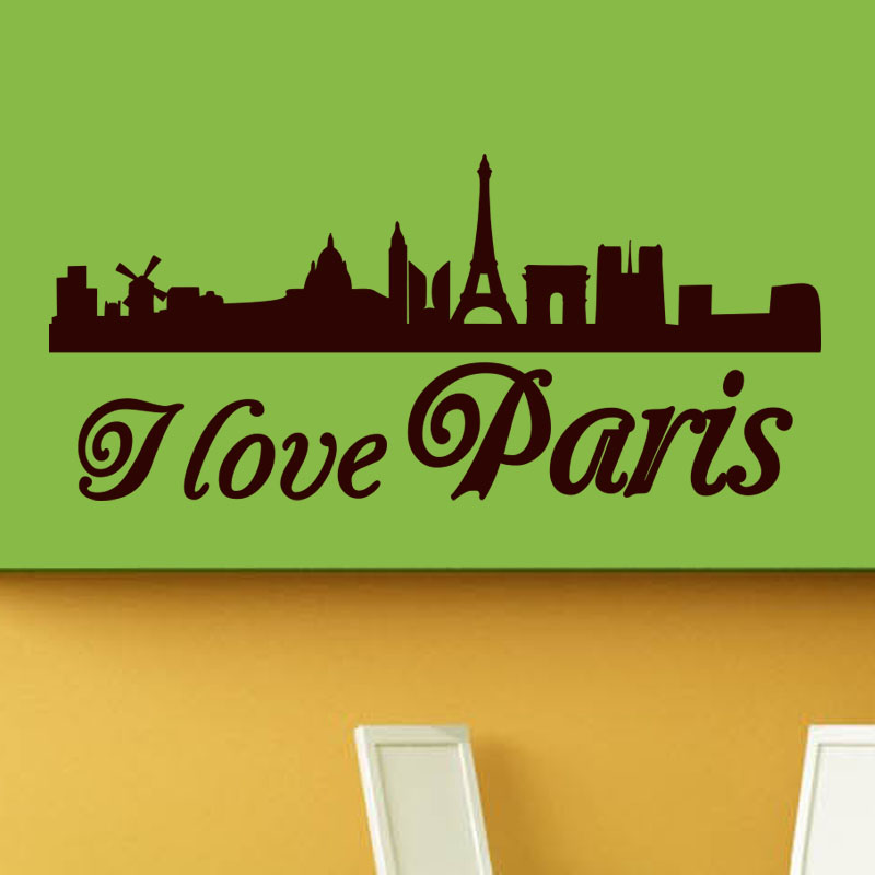 Sticker i love paris ii stickers villes et voyages paris ambiance sticker - Stickers muraux paris ...