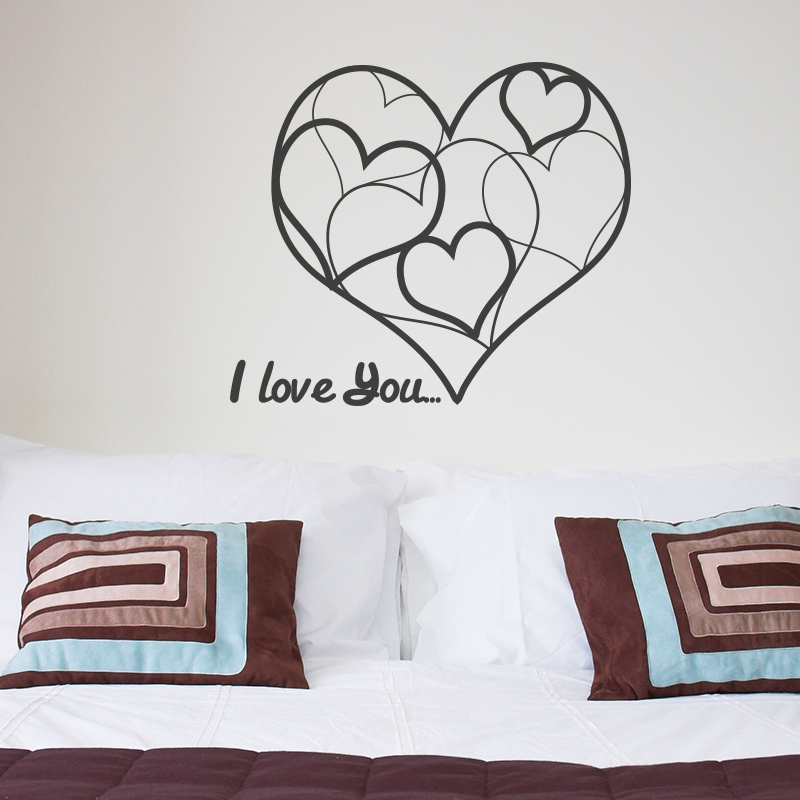 stickers muraux pour chambre sticker c ur design ambiance. Black Bedroom Furniture Sets. Home Design Ideas