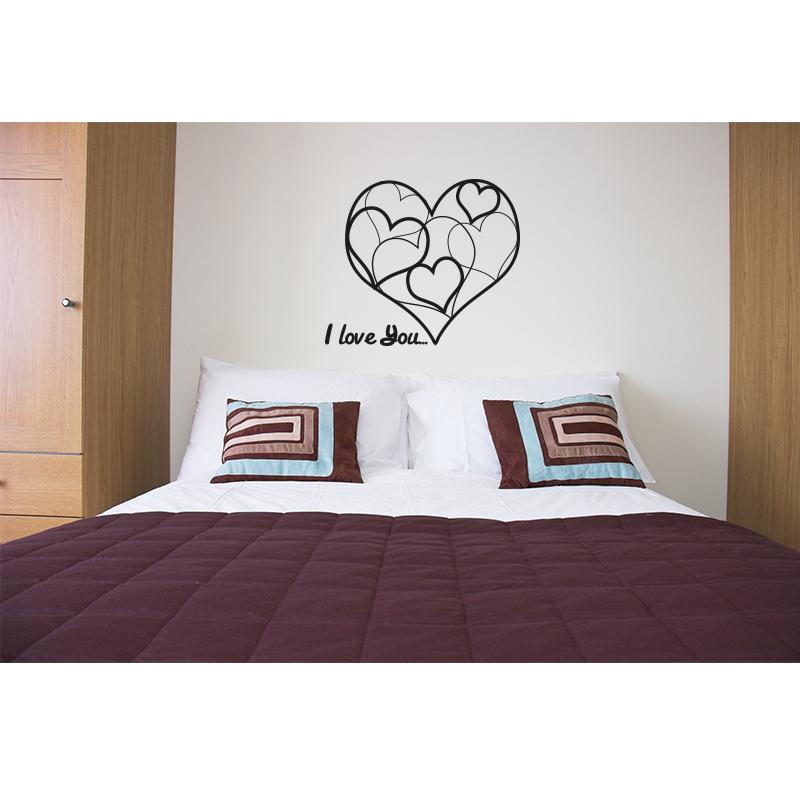 Stickers muraux pour chambre sticker c ur design for Stickers chambre love
