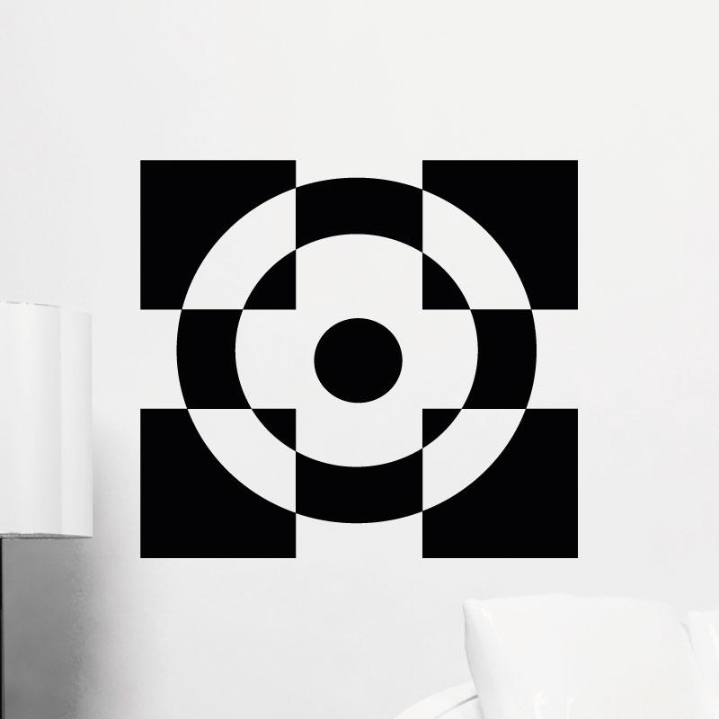 stickers muraux design sticker mural illusion d 39 optique 1 ambiance. Black Bedroom Furniture Sets. Home Design Ideas
