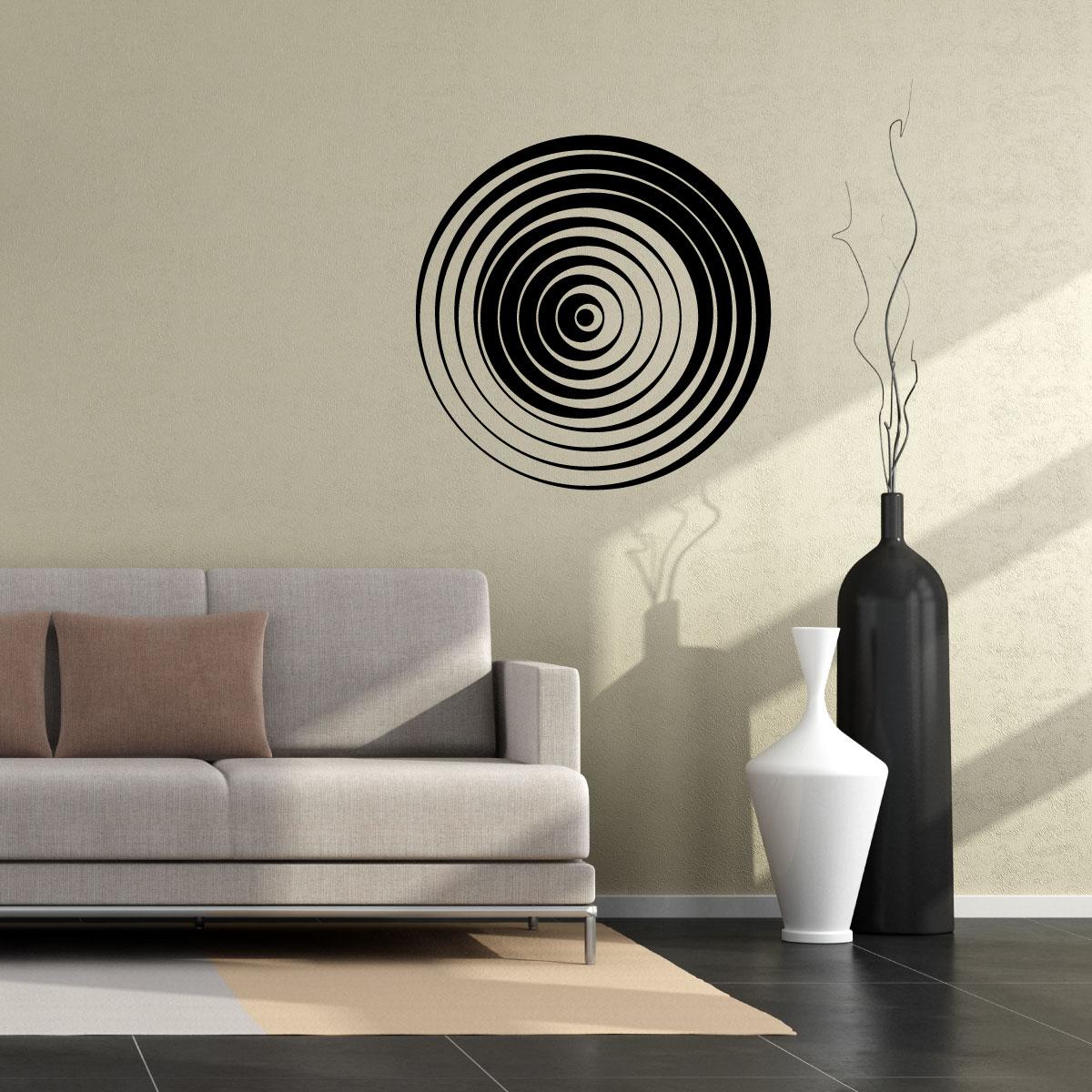stickers muraux design sticker mural illusion d 39 optique 7 ambiance. Black Bedroom Furniture Sets. Home Design Ideas