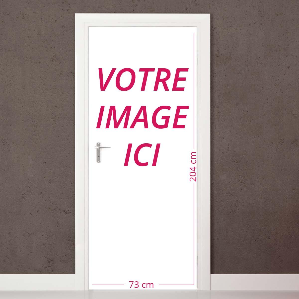 sticker image personnalisable porte h204 x l73 cm stickers toilettes porte ambiance sticker. Black Bedroom Furniture Sets. Home Design Ideas