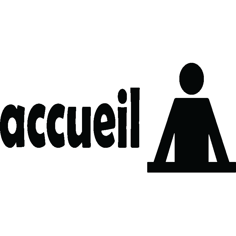 sticker indication accueil stickers professionnels stickers signal tique ambiance sticker. Black Bedroom Furniture Sets. Home Design Ideas