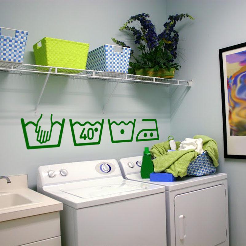 sticker instruction de lavage design stickers electrom nager machine laver ambiance sticker. Black Bedroom Furniture Sets. Home Design Ideas