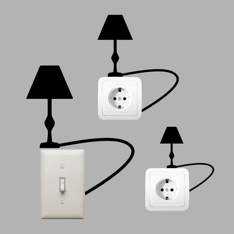 Sticker Interrupteur Lampe De Chevet – Stickers Prises Et