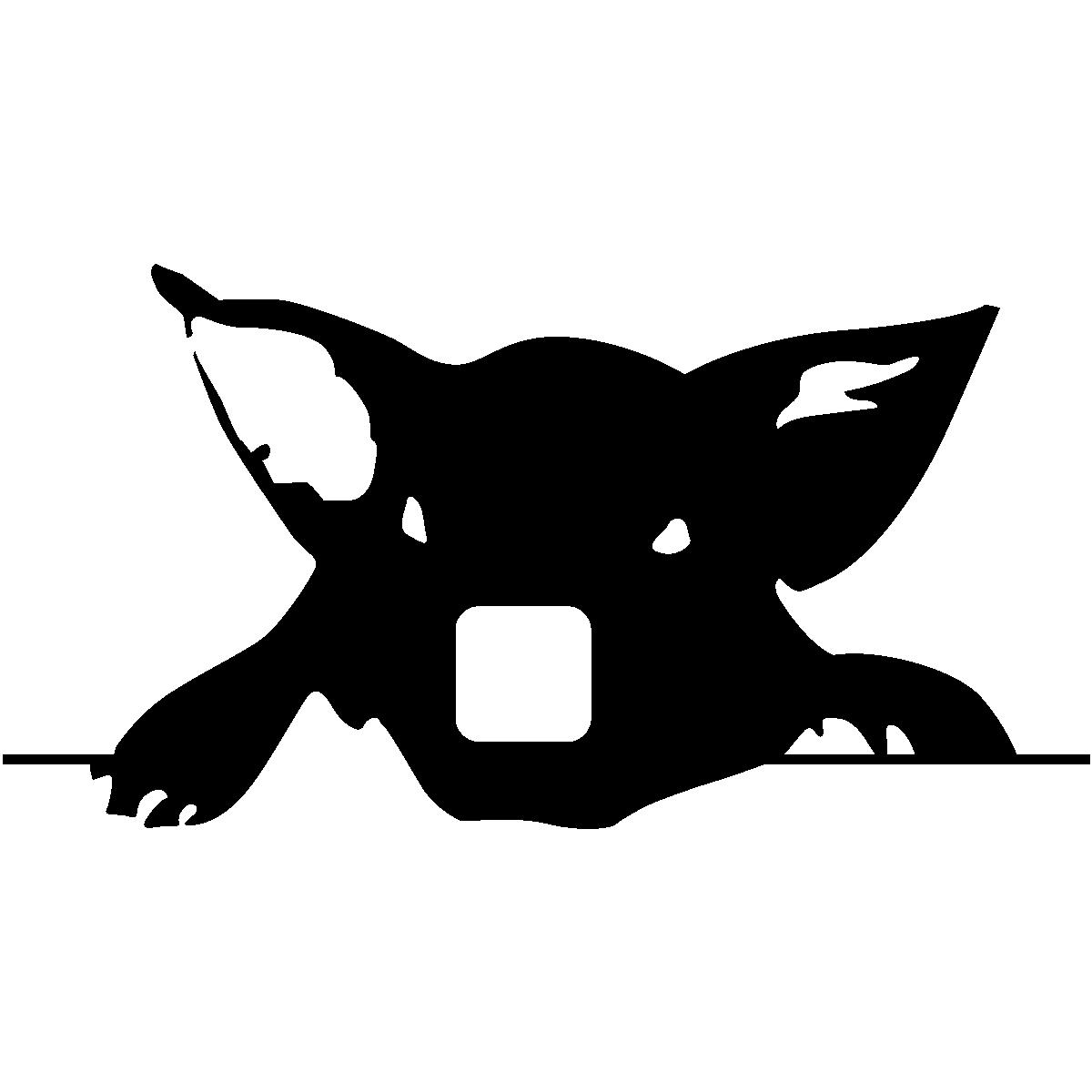 tête cochon stylisée