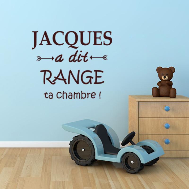 sticker jacques a dit range ta chambre stickers citations enfants ambiance sticker. Black Bedroom Furniture Sets. Home Design Ideas