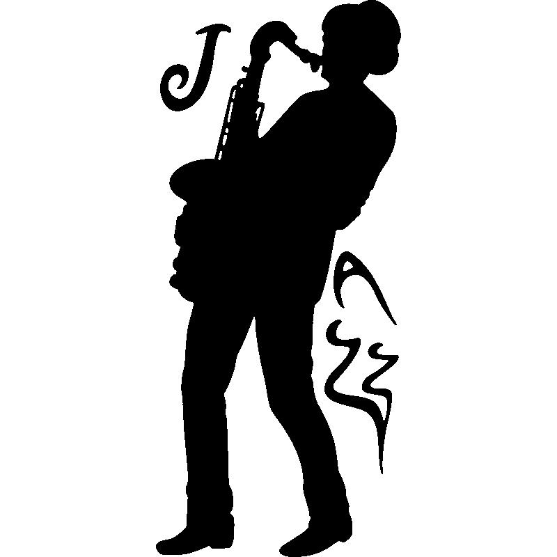 Stickers Muraux Musique Sticker Jazzman Ambiance