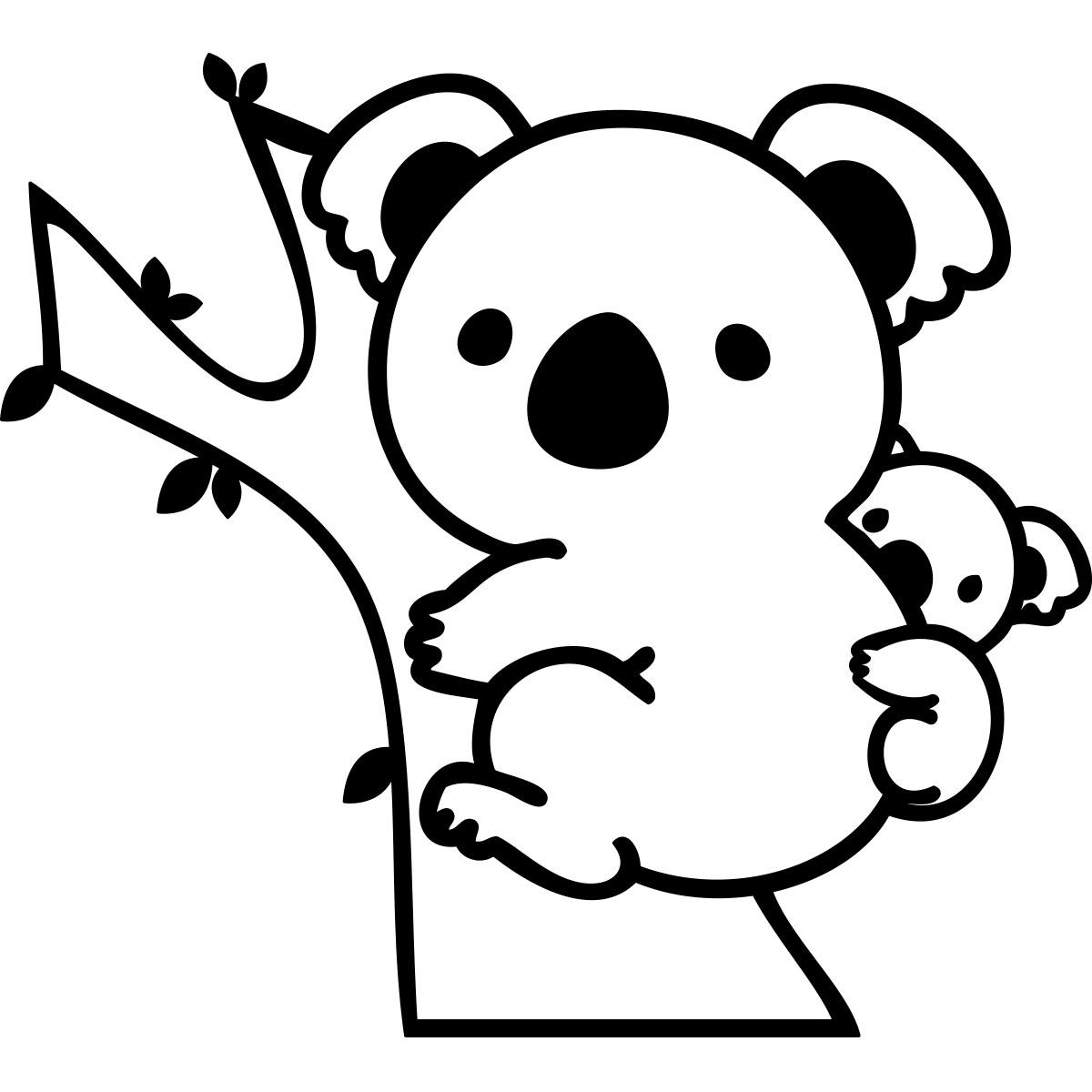 Sticker koala adorable avec son b b stickers animaux animaux d 39 afrique ambiance sticker - Stickers koala chambre bebe ...