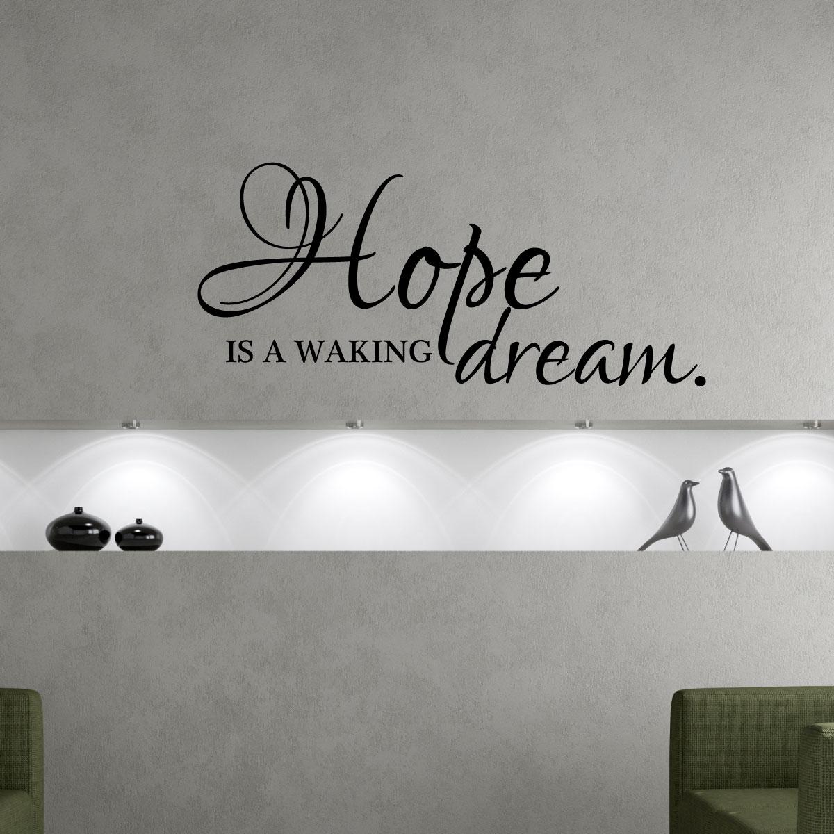 stickers muraux citations sticker l 39 espoir est le r ve. Black Bedroom Furniture Sets. Home Design Ideas