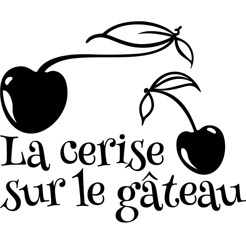 Sticker la cerise sur le gateau stickers citations fran ais ambiance sticker - La cerise sur le nuage ...