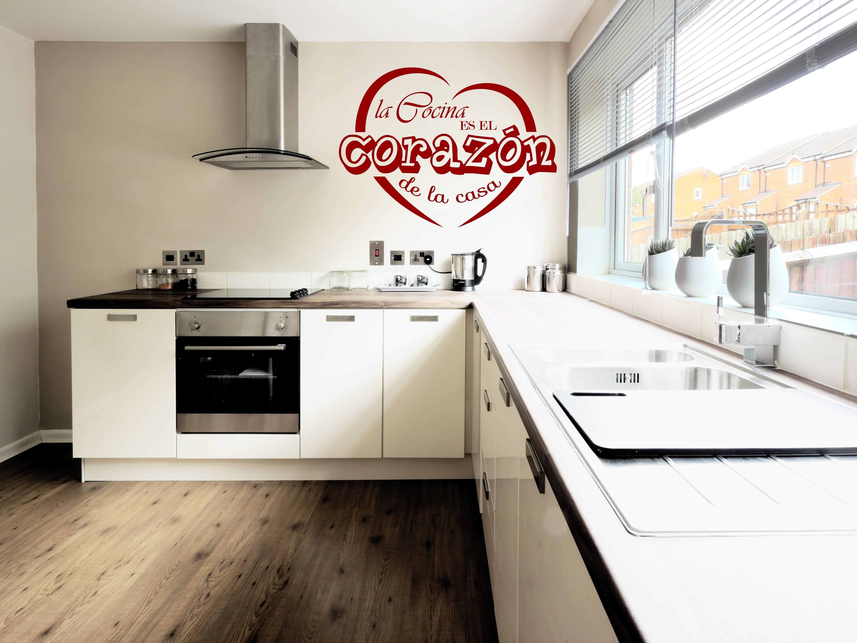 Sticker la cocina es la corazon de la casa stickers citations espagnol ambiance sticker - La cocina en casa ...