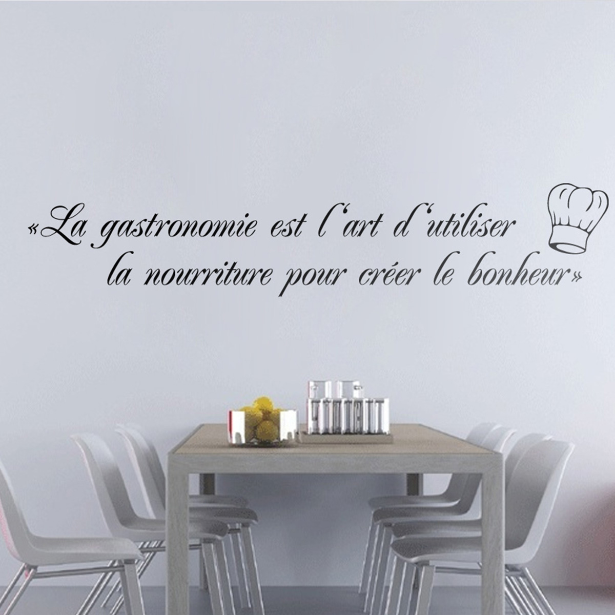 sticker la gastronomie est un art stickers muraux pour la cuisine ambiance. Black Bedroom Furniture Sets. Home Design Ideas