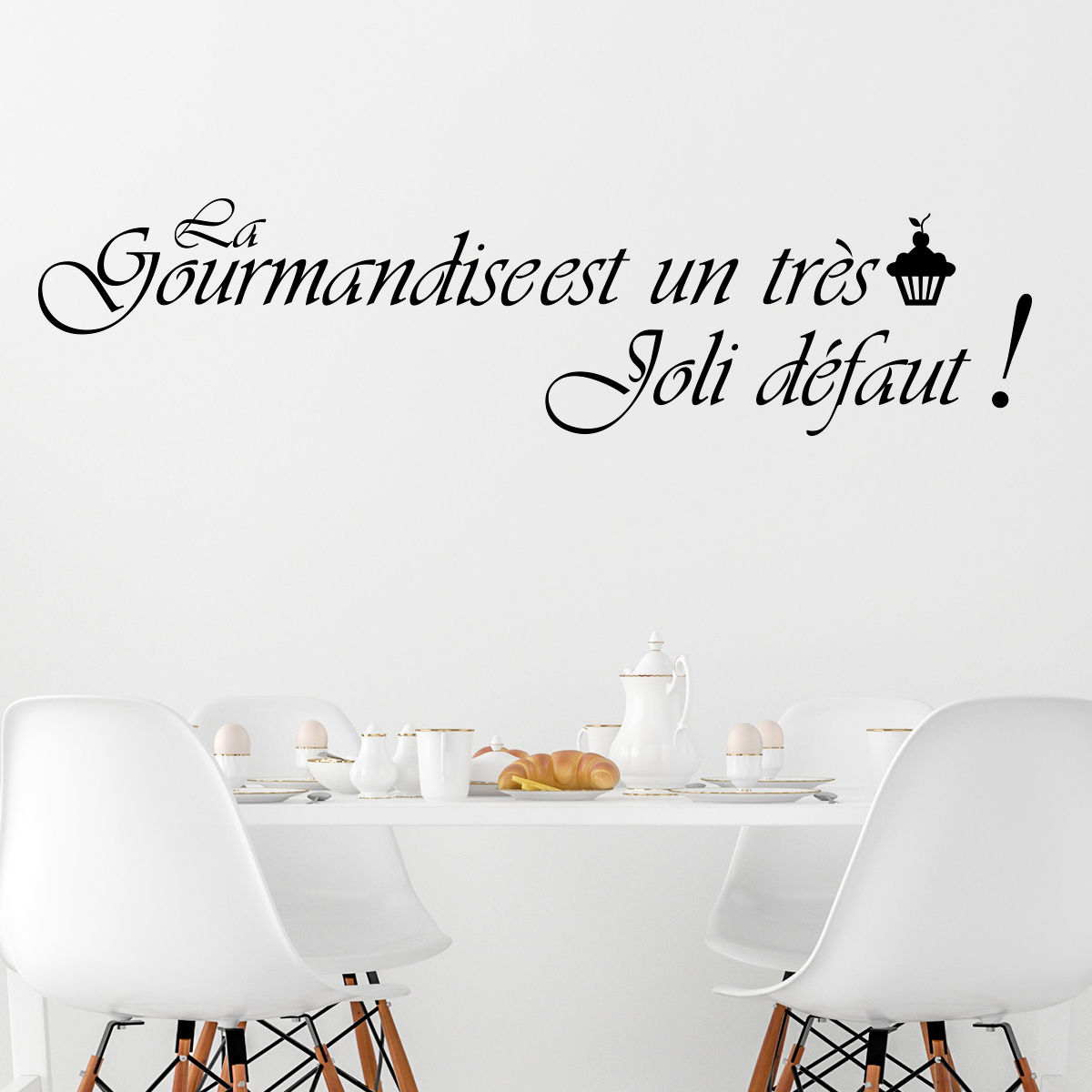 sticker la gourmandise est un tr u00e8s joli d u00e9faut - stickers citations fran u00e7ais