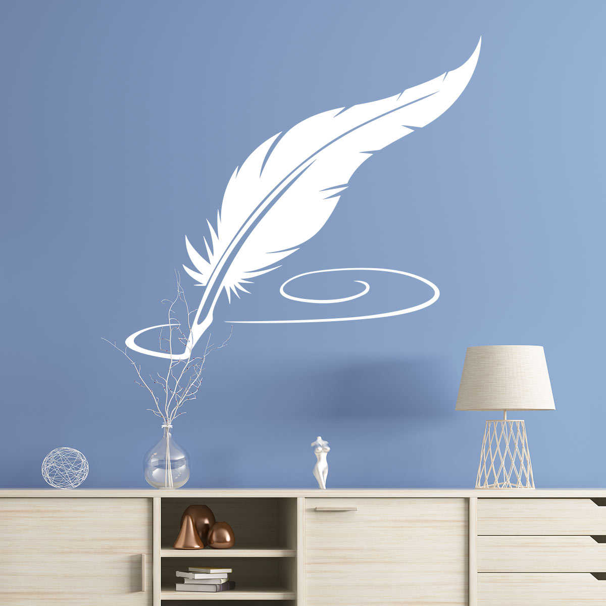 Sticker la plume de l 39 crivain stickers art et design artistiques ambiance sticker - Laver un oreiller en plume ...