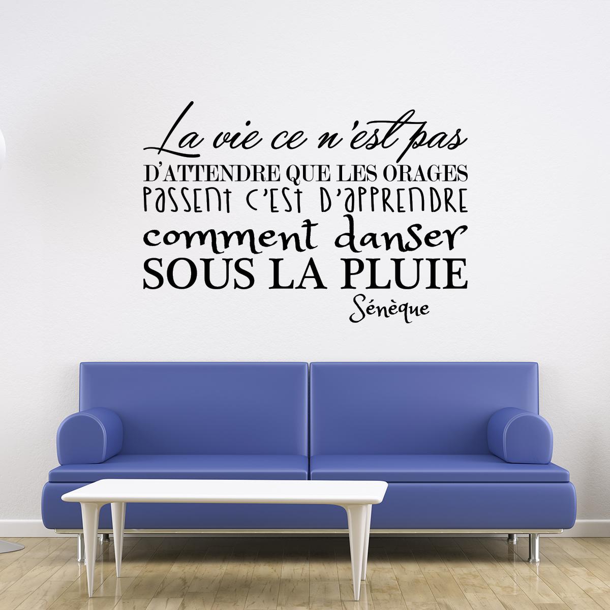 sticker la vie s n que ii stickers citations fran ais. Black Bedroom Furniture Sets. Home Design Ideas