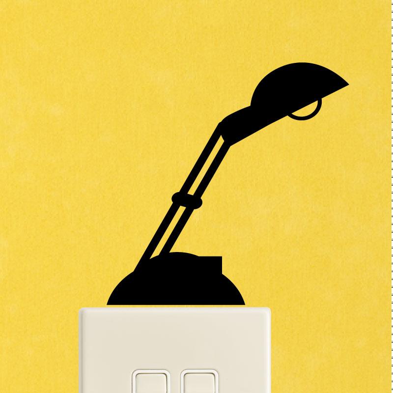 stickers prises et interrupteurs sticker mural lampe de bureau ambiance. Black Bedroom Furniture Sets. Home Design Ideas