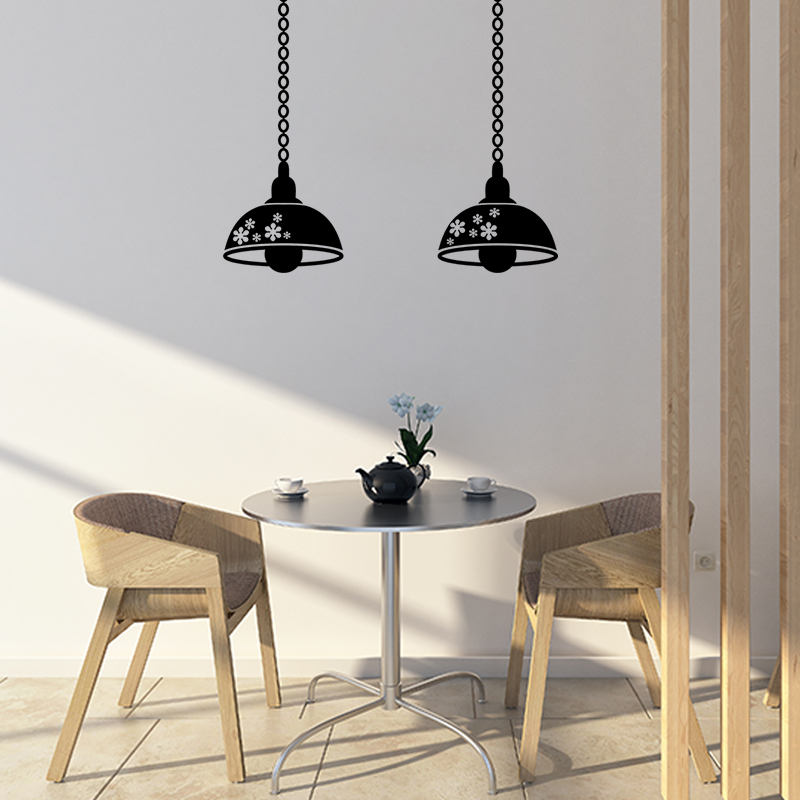 sticker lampes industrielles suspendues stickers art et design artistiques ambiance sticker. Black Bedroom Furniture Sets. Home Design Ideas