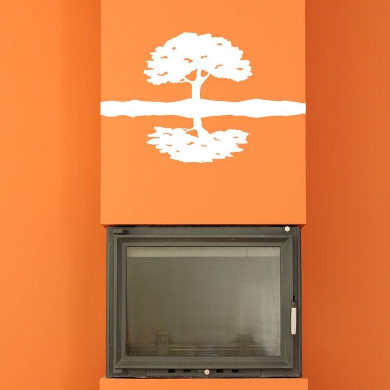 sticker le miroir de l 39 arbre stickers nature arbres ambiance sticker. Black Bedroom Furniture Sets. Home Design Ideas